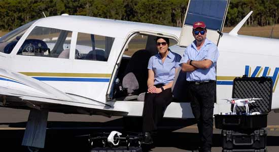 Fly in fly out drone training australia